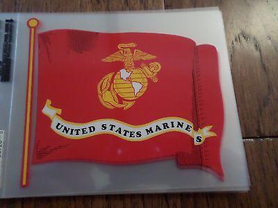 (U.S MILITARY MARINE CORPS FLAG WITH EGA WINDOW DECAL BUMPER STICKER. )