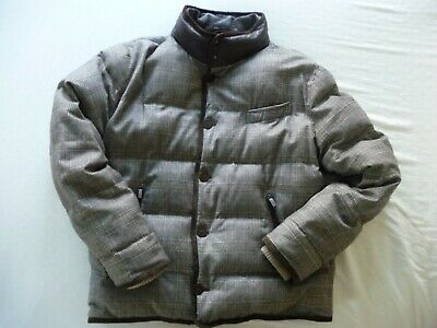 $3500 Bamford & Sons, Loro Piana Wool Cashmere Leather Down Puffer, L XL Italy!