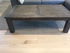 Rustic wood coffee table Neutral Bay North Sydney Area Preview