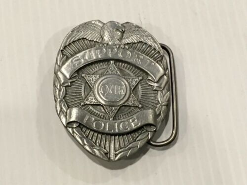 Support our Police badge collectible belt buckle