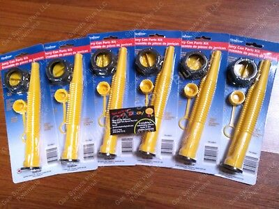 6-pk Scepter Gas Can Spouts Vent Kit Moeller Midwest American Igloo Eagle Reda
