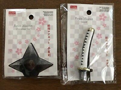 Ninja Shuriken(Throwing star) & Katana(sword:white) Paper Clip (Magnet)](Ninja Stars Paper)