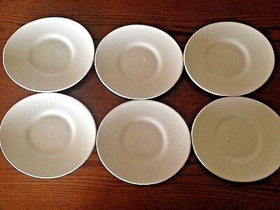 World Off-White Oval Stoneware Dinner Plates 8.75