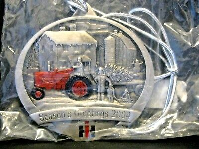 IH International Farmall M Tractor 2004 Pewter Christmas Ornament  1st IN SERIES ()