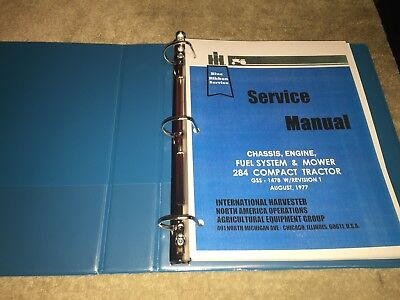 Ih 284 International Tractor Service Manual Book Reproduction