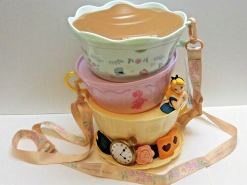 In Hand !!Alice in Wonderland Popcorn Bucket Tokyo Disney Resort Tea Cup Mirror