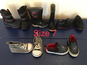 Toddler shoes and boots, size 7, 6, 5,  4, 2