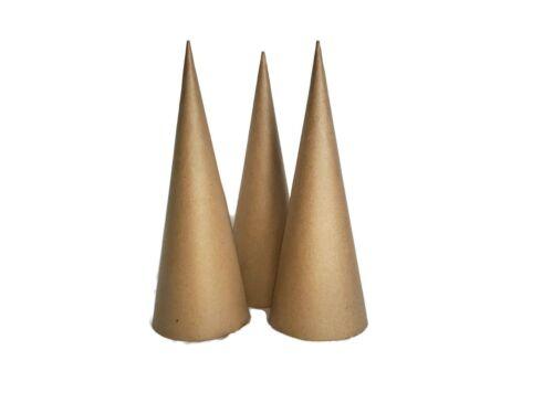 Paper Mache Cones Open Bottom 13.75 X 5 Inches 3 Cones Per Order