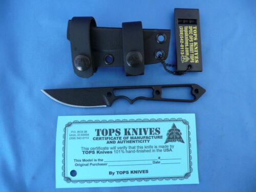 TOPS Street Spike Knife 1095 Carbon Steel Kydex Neck Sheath USA Made