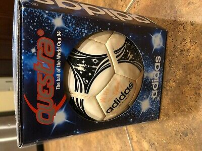 New Adidas Questra 1994 World Cup Ball with Box Signed USA Team Made in France