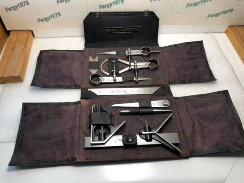 Rare Brown Sharpe Set of Standard Tools, 847 for Students & Apprentices 1930