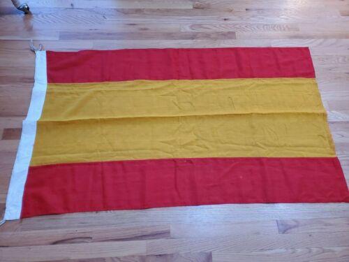 Vintage SPAIN CIVIL ENSIGN FLAG Merchant Maritime Ship Flag Spanish Authentic