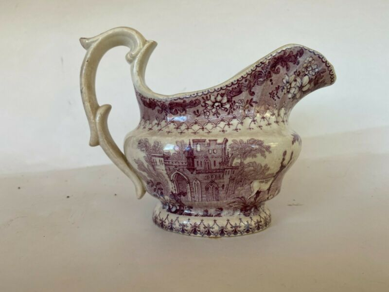 Rare Antique English Transferware Creamer/Pitcher -early 19th century.