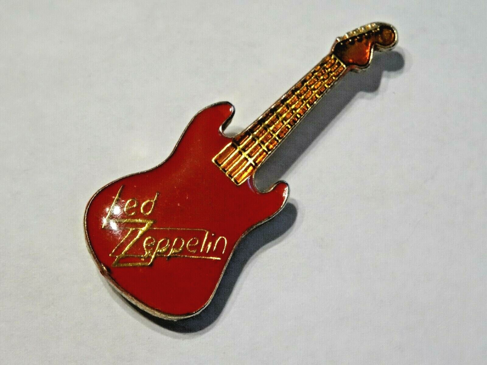 LED ZEPPELIN COLLECTIBLE 1980 S PIN RED ENAMEL LABEL / HAT PIN - $7.99