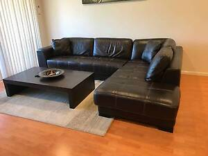 Great 5 Seater L Shape Leather Couch For Sale Chipping Norton Liverpool Area Preview