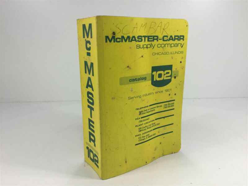 McMaster-Carr Supply Company Catalog Number 102 Chicago, IL 1996