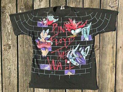 VTG Pink Floyd The Wall Single Stitch Double Sided Concert Tour T-Shirt Size XL Double Wall Tee