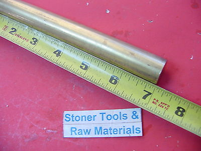 34 C360 Brass Round Rod 7 Long Solid .750 Diameter New Lathe Bar Stock H02