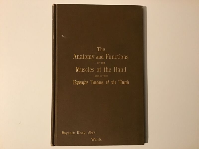 Anatomy & Functions of the Muscles of the Hand & Extensor Tendons Author Signed