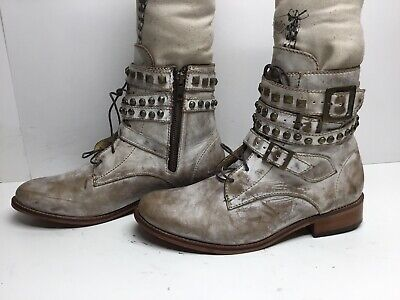 VTG WOMENS PATRON CASUAL DISTRESSED BROWN BOOTS SIZE 9 M