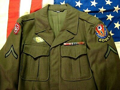 USA WW2 WORLD WAR 2 IKE ARMY UNIFORM JACKET GIRLS PICTURE IN POCKET 32s CLEAN!