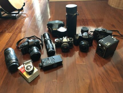 Film cameras and accessories