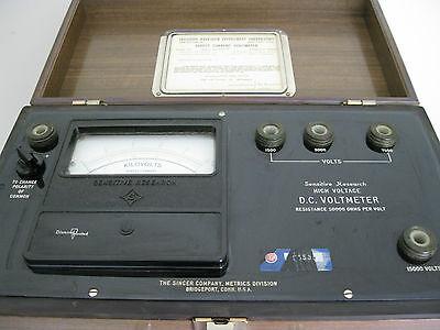 Sensitive Research Dchi Dc Voltmeter-singer Co.