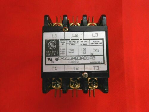 GE CR353AB3AB1AB CONTACTOR  3P 25 A 208/240V - RECON/TESTED