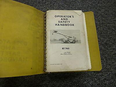 Grove Rt740 Rough Terrain Hydraulic Crane Owner Operator Maintenance Manual Book