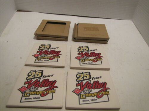 LOT OF 4 25 YEARS OF VALLEY CORVETTE BOISE, IDAHO COASTERS IN BOXES USA CLEAN