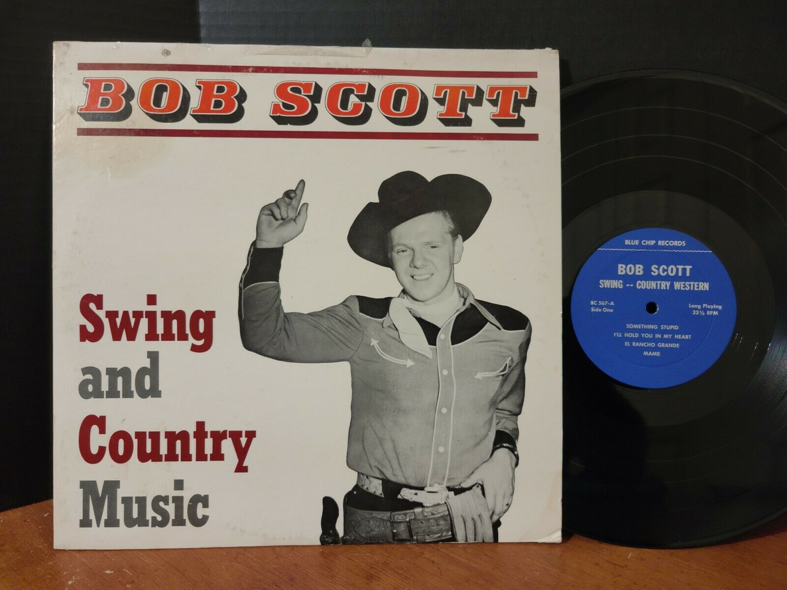 BOB SCOTT - SWING AND COUNTRY WESTERN Vinyl LP Private Press Blue Chip Records