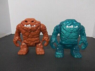 Imaginext Batman Ice Clayface Blue & Brown Clay Face Lot # 2