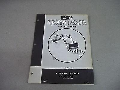 Massey Harris Ferguson Tractor  F-32 Loader Parts Book  Form  693062m1