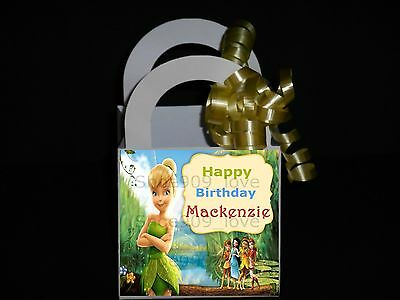 TINKERBELL 12 PERSONALIZED, FAVOR BOXES, BIRTHDAY PARTY  **RIBBON - Tinkerbell Party Favors
