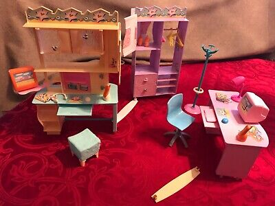 Barbie Doll College Study Dorm and Dressing Room Furniture & Accessories
