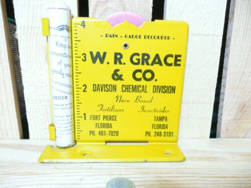Vintage W.R, Grace & Co. Rain Gauge with instructions