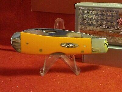 2021 Case xx Tribal Lock Knife-TONY BOSE Orange SMOOTH Synthetic HANDLE-CASE BOX