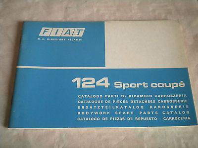 Vintage original factory Body parts catalogue Fiat 124 Sport Coupé 1975 1st ed