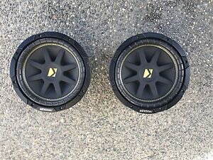 "2 10"" Kickers Comp Subs"