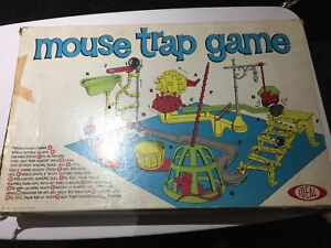 Vintage 1963 First Edition Ideal Toy Corp Mouse Trap Board Game