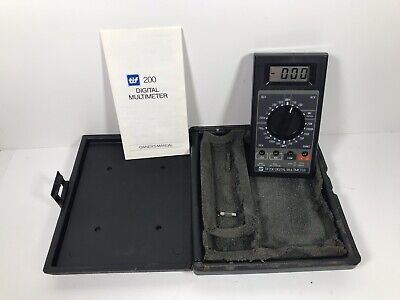 Tif 250 Digital Inductive Tach Dwell Multimeter W Hardcover Case Fast Ship