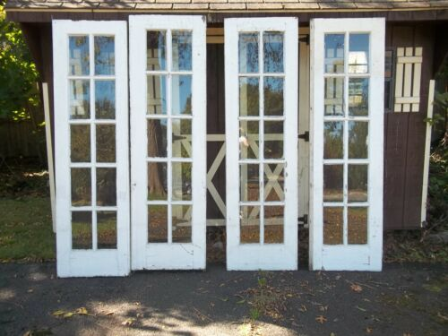 2 SETS OF ANTIQUE FRENCH 10 PANE, EXTERIOR,  DOORS APPROX, 24 X 83,