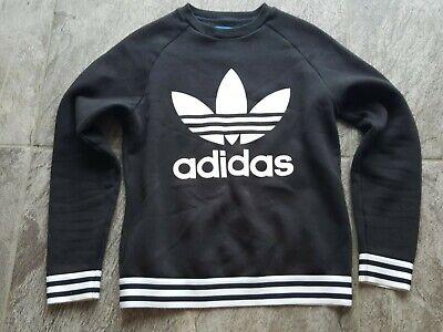 Adidas black jumper Size 6/xs Vgc