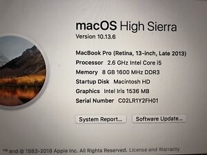 "13"" MacBook Pro Retina (late 2013)"