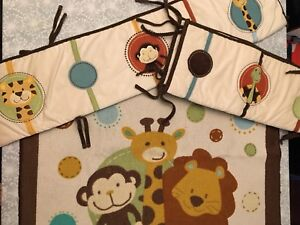 6-piece crib bedding set Jungle Tales and more