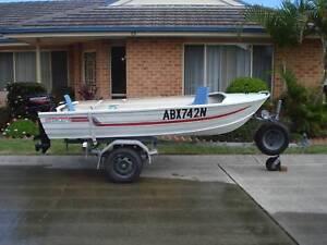 alluminium boat & TRAILER & MOTOR
