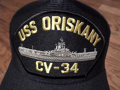 USS ORISKANY CV-34 U.S NAVY SHIP HAT U.S MILITARY OFFICIAL BALL CAP U.S.A MADE