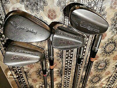 4 x jack nicklaus golf clubs steel slazenger pitching wedge,sand wedge joblot