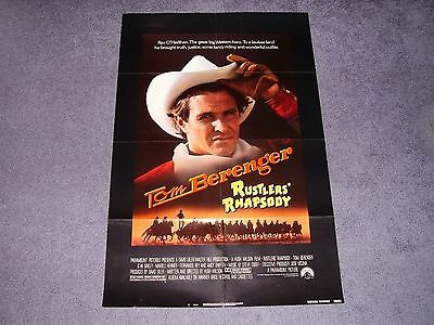 RUSTLERS RHAPSODY original poster TOM BERENGER   MARILU HENNER  ANDY GRIFFITH
