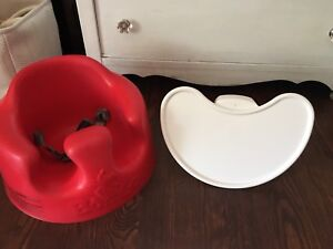 Red Bumbo and tray